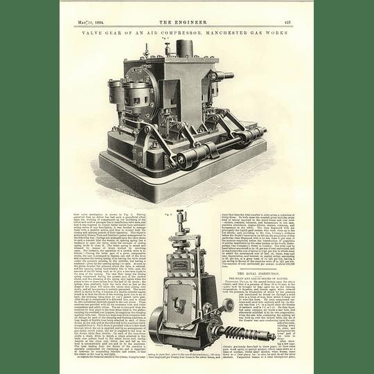 1894 Valve Gear Of An Air Compressor Manchester Gasworks