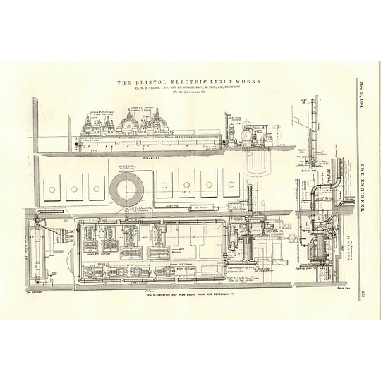 1894 Bristol Electric Light Works Switchboards Stokeholds Engine Room Condenser