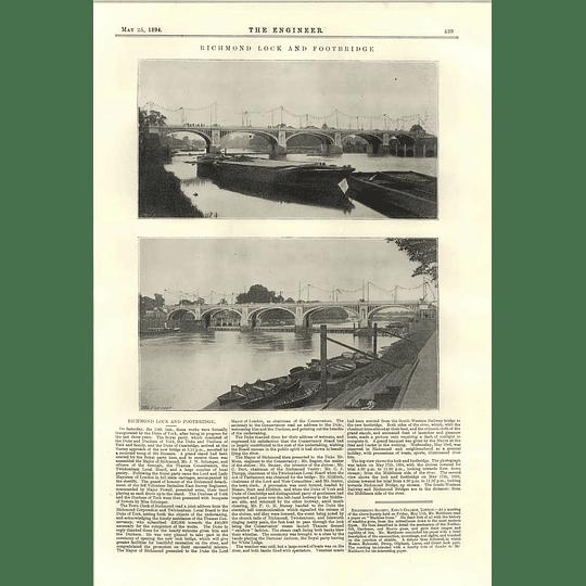 1894 Richmond Lock And Footbridge