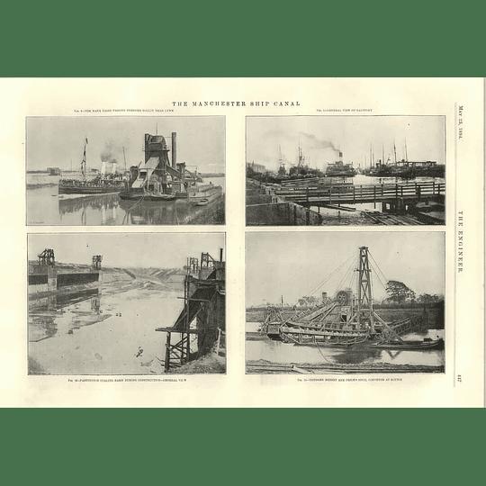 1894 Manchester Ship Canal Manx Fairy Dredger Spoil Rixton Swing Bridges