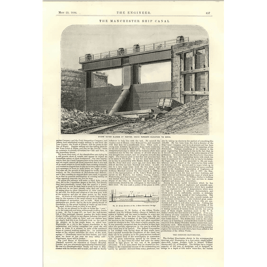1894 Manchester Ship Canal Latchford Locks Excavation Runcorn Sluices