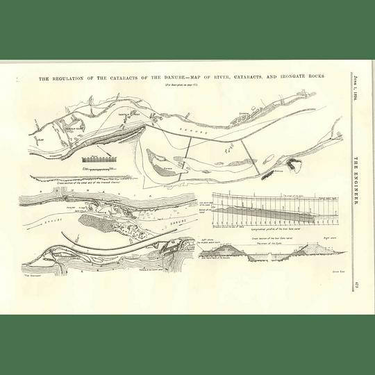 1894 Danube Cataracts Irongate Rocks Regulation Works