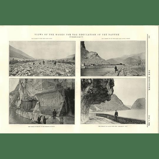 1894 Regulating The Danube Passage Of Kazan Table Of Trajan