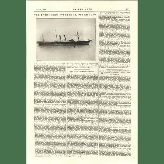 1894 Twin Screw Steamer St Petersburg Hawthorn Leslie Hebburn Russian Volunteer Fleet