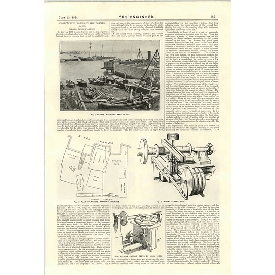 1894 Engineering Works On The Thames Yarrow Hedley Fitting Shop Torpedo Boat