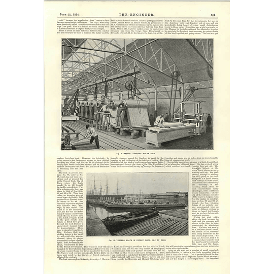 1894 Engineering Works Yarrow Hedley Boiler Shop Recording Vibrations