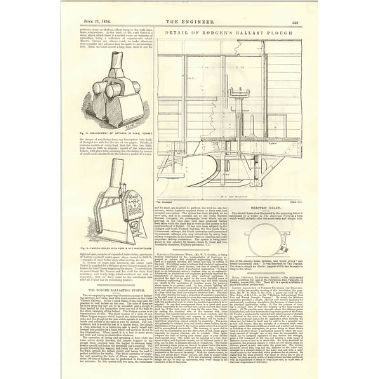 1894 The Rodger Ballasting System Portable Oil Engine Crossley Trial