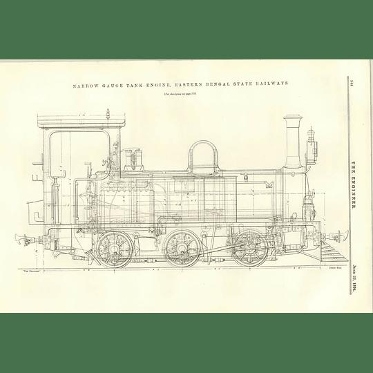 1894 Narrow Gauge Tank Engine Eastern Bengal State Railway