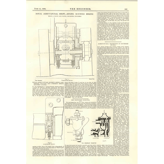 1894 Eastern Bengal State Railway Engine Spring Mounted Agricultural Engine