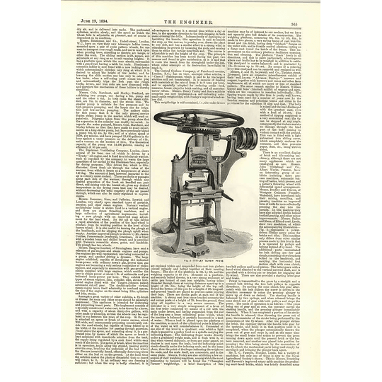 1894 Stationery And Portable Oil Engines Hornsby Grantham Tittley Screw Press