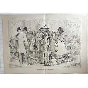1879 Adelaide Claxton Sketches Characters In Kensington Gardens