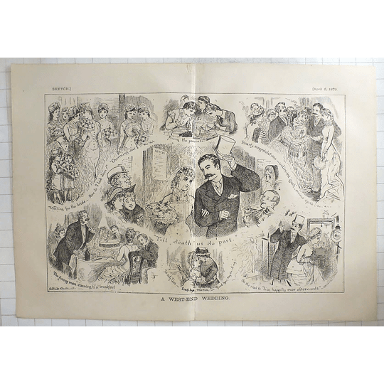 1879 Adelaide Claxton Character Sketches Of A West End Wedding