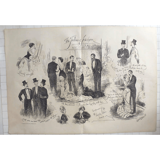 1879 The Follies Of Fashion Dower Wilson Character Sketches