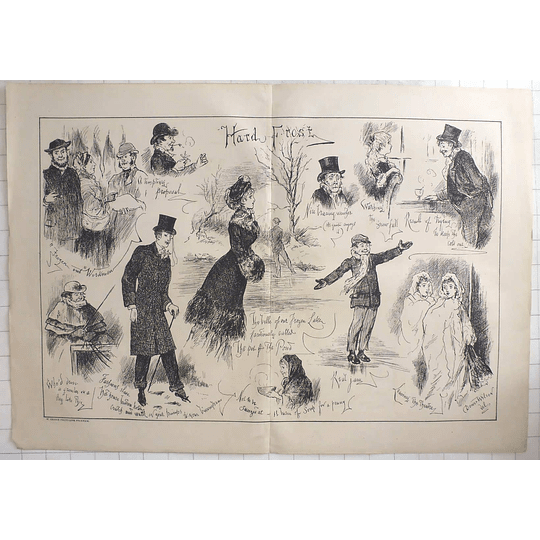 1879 Dower Wilson Character Sketches During Hard Frost W Griggs Peckham