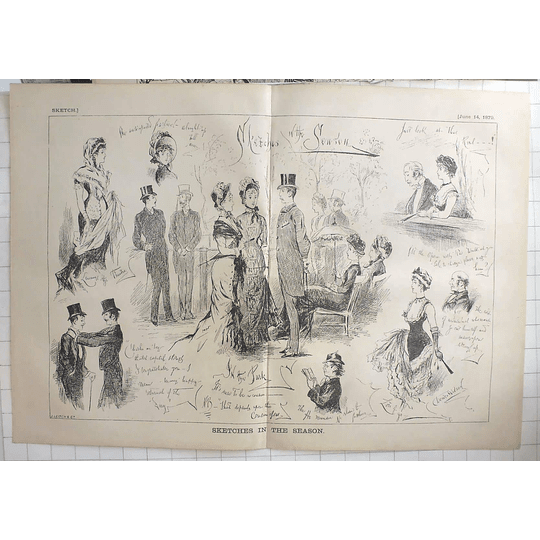 1879 J Leich & Co Sketches In The Season, In The Park, Characters