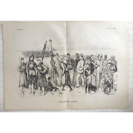 1879 J Leich & Co Characters On The Boulogne Sands