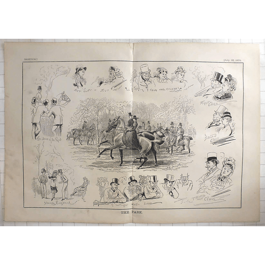 1879 J And G Templer Sketches In The Park, Characters