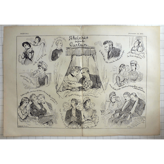 1879 Adelaide Claxton Sketches Before The Curtain