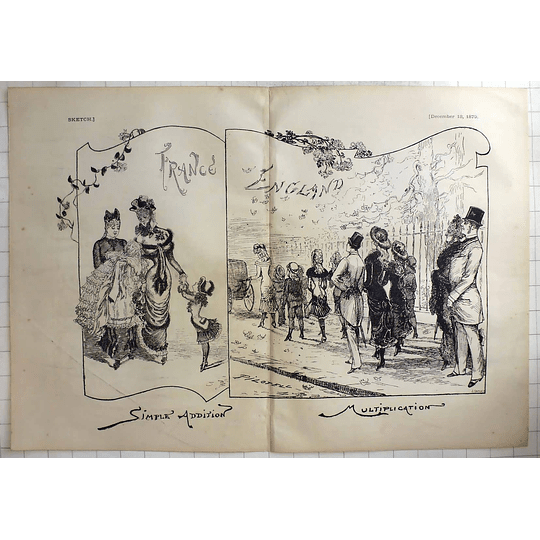 1879 Humorous Aside, Simple Addition In France, Multiplication In England