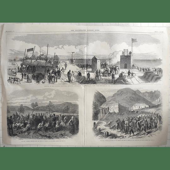 1866 Volunteer Artillery Meeting Shoeburyness, Austrian Prisoners In The Tyrol