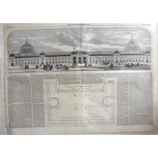1861 Building For The International Exhibition 1862, Design, Plan