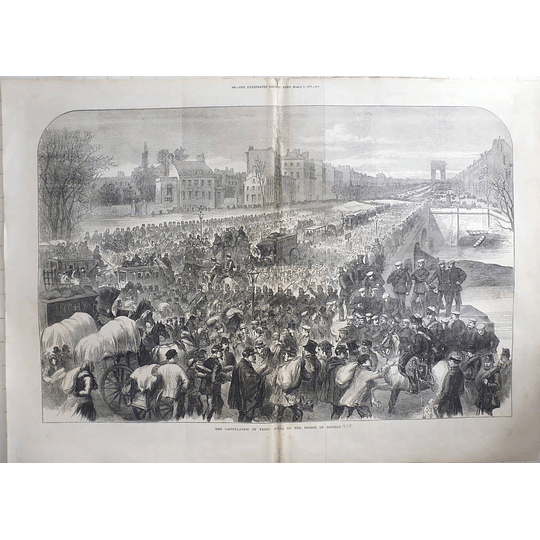 1871 Capitulation Of Paris Seen On The Bridge Of Neuilly
