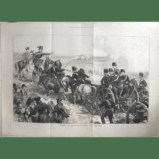 1871 Artillery At The Brighton Volunteer Review, Horse Teams Wagons