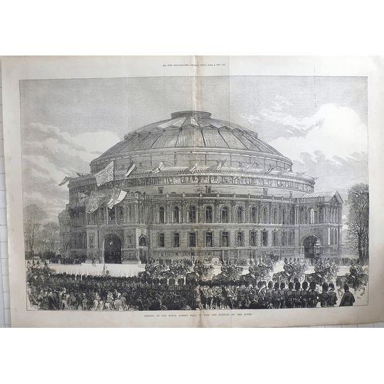 1871 Opening Of The Royal Albert Hall Of Arts And Sciences By The Queen