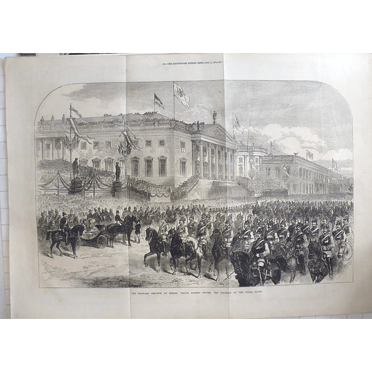 1871 Military Triumph At Berlin, Troops At Opera Place