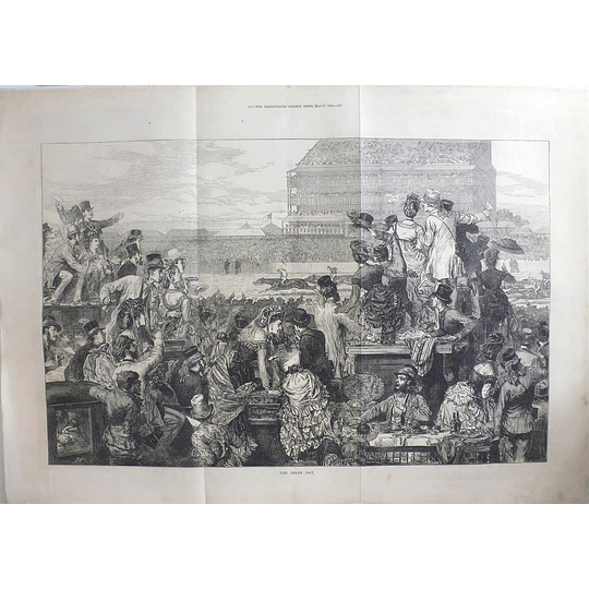 1871 Enormous Crowd Scene On Derby Day