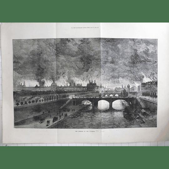 1871 France Civil War, Burning Of The Tuileries