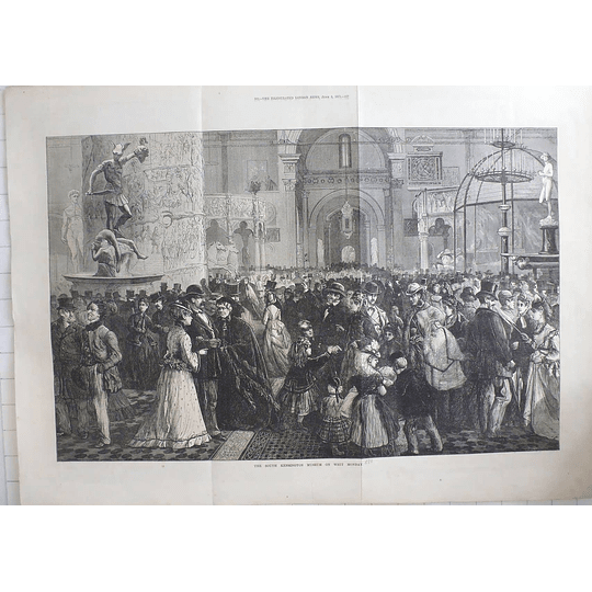 1871 South Kensington Museum On Whit Monday, Huge Crowds