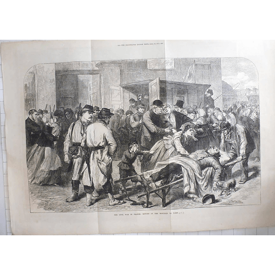 1871 French Civil War Desperate Return Of Wounded To Paris