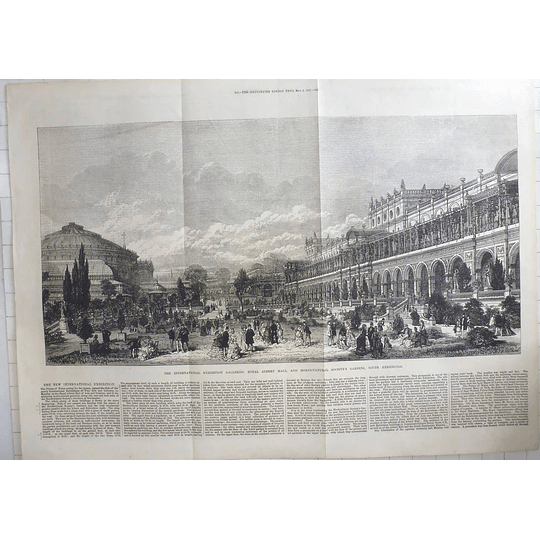 1871 International Exhibition Galleries, Royal Albert Hall Horticultural Society