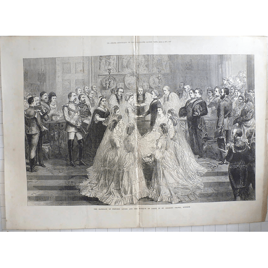 1871 Marriage Of Princess Louise Marquis Of Lorne St. George's Chapel Windsor