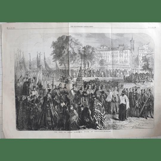 1856 Festival Of Notre Dame Del Pilar At Saragossa
