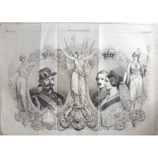 1855 King Of Sardinia With Victoria And Albert