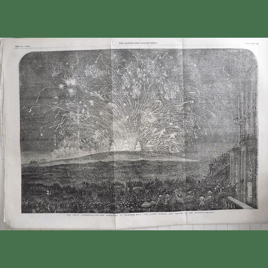 1856 Fireworks On Primrose Hill, 10,000 Rockets Peace Commemoration
