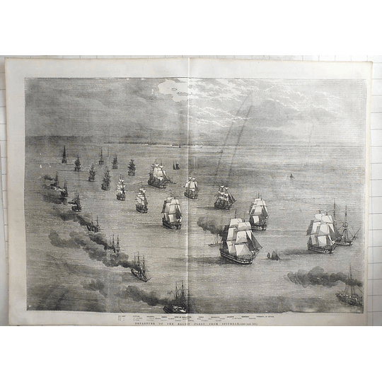 1855 Departure Of The Baltic Fleet From Spit Head, Birds Eye View