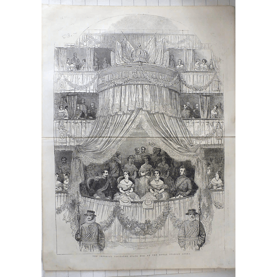 1855 Imperial Visit, State Box At The Royal Italian Opera