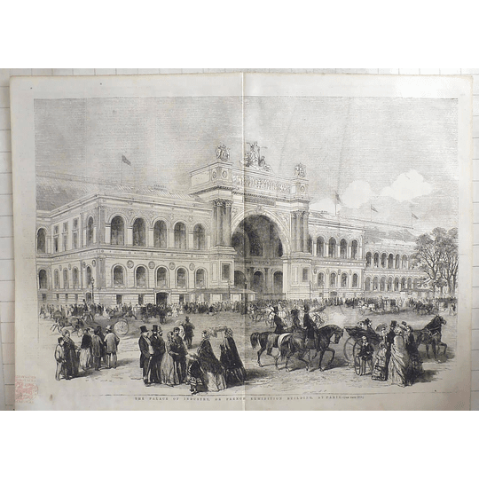 1855 The Palace Of Industry, French Exhibition Building At Paris