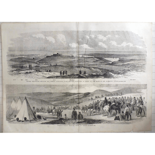 1855 Crimea Horse Races, Karani, Positions Before Sebastopol