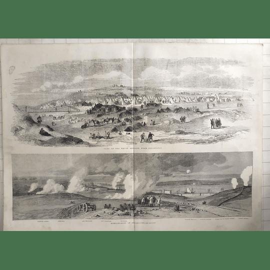 1855 Naval Brigade Camp Near Sebastopol, And Bombardment