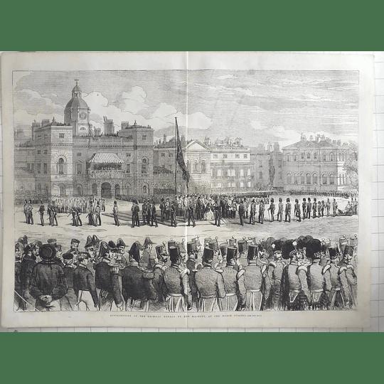 1855 Queen Distributing Crimean Medals At Horse Guards