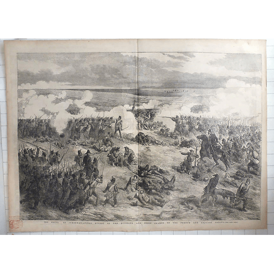 1854 Battle Of Inkerman Final Effort Of Russians, Joint Charge French English