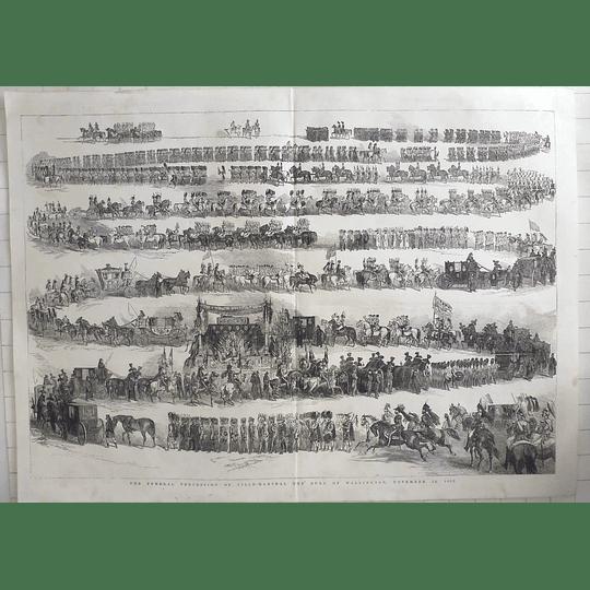 1853 Funeral Procession Field Marshal Duke Of Wellington November 18, 1852