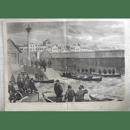 1855 Baltic Fleet, Dundas Departs Portsmouth Dockyard, Queens Head, Veal