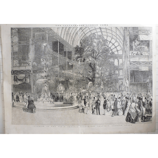 1851 Interior Of Great Crystal Palace, Transept Looking North