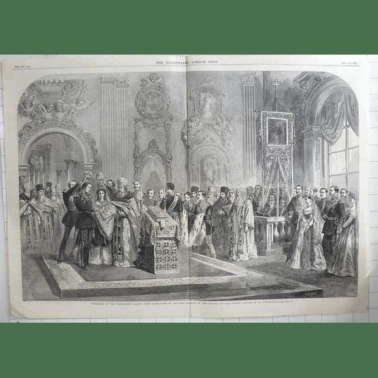 1866 Marriage Grand Duke Alexander Princess Dagmar, Winter Palace