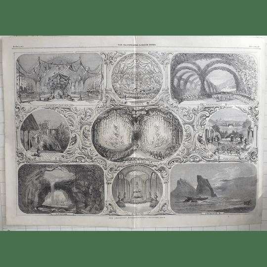 1861 Christmas Entertainments Covent Garden, Drury Lane, Olympic Theatres